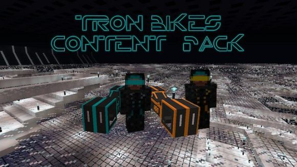 Мод Tron Bikes Content Pack for Flan's для Minecraft [1.5.2]